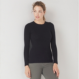Fine Ribbed Layering Sweater - Black