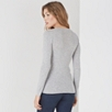 Fine Ribbed Layering Sweater - Pale Gray Marl