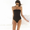 Frill Detail Swimsuit - Black
