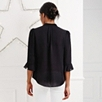 Frill Trim Blouse - Black
