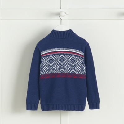Fairisle Panel Knitted Jacket