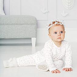 Baby Girls' Floral Ruffle Pyjamas