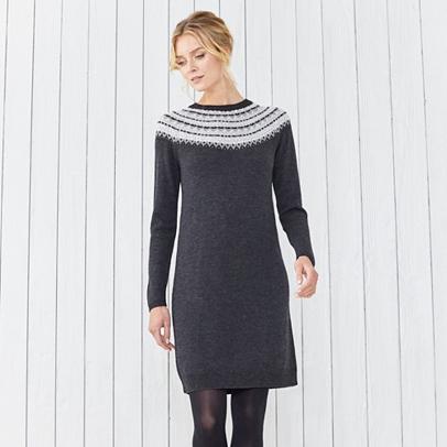 Fairisle Sparkle Knitted Dress | Clothing | The White Company UK
