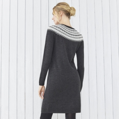 Fairisle Sparkle Knitted Dress