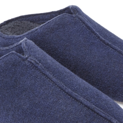 Men's Felt Mule Slippers - Dark Charcoal Marl