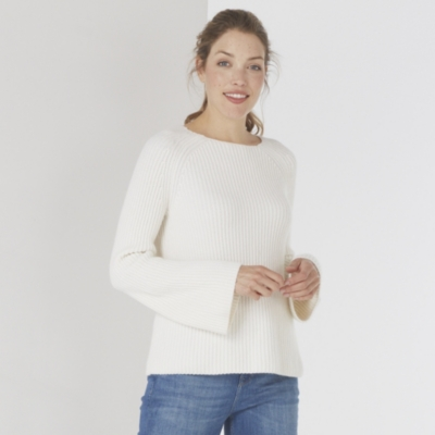 Cashmere Flared Sleeve Sweater