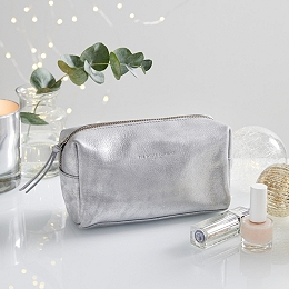 Leather Frosted Wash Bag