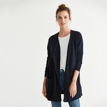 Wool Waterfall Cardigan | Cardigans | The White Company UK