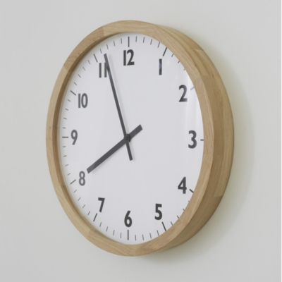 Oak Large Wall Clock