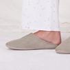 Fur Lined Grosgrain Slippers