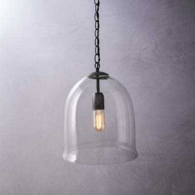 Image of Fulton Glass Cloche Ceiling Light