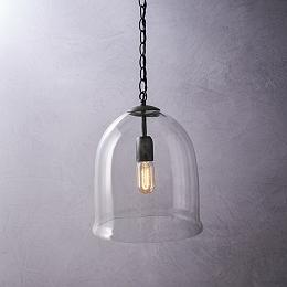 Fulton Glass Cloche Ceiling Light