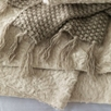 Textured Faux Fur Throw - Almond