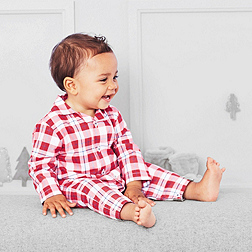 Baby Boys' Felix Check Flannel Sleepsuit
