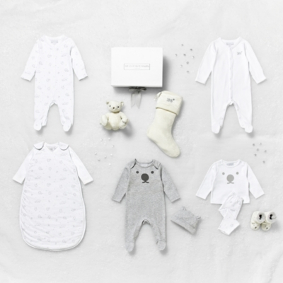 First Christmas Velour Sleepsuit