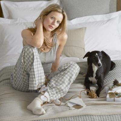 Gingham Pajama Bottoms