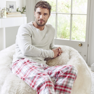 Check Flannel Pajama Bottoms
