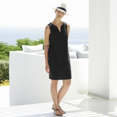 Geometric Broderie Shift Dress