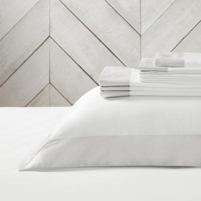 Genoa Flat Sheet - White Silver