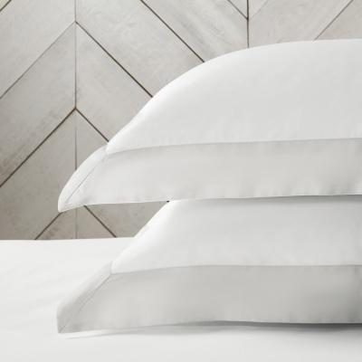 Genoa Oxford Pillowcase - White Silver