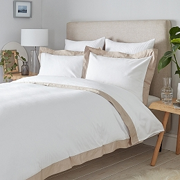 Genoa Bed Linen Collection  - White Natural