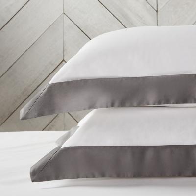 Genoa Oxford Pillowcase - White Charcoal