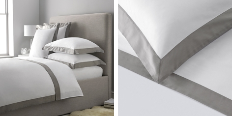 Genoa Bed Linen Collection - Soft Slate