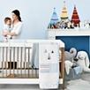 Gray Pom Pom Baby Blanket