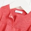 Cotton Linen Rib Cardigan - Coral