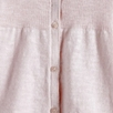 Cotton Linen Rib Cardigan - Pink