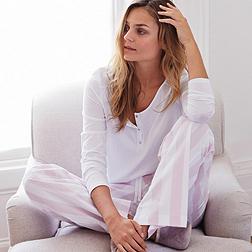 Stripe Flannel Pyjama Bottoms - Pink Stripe