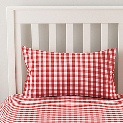 Gingham Cot Bed Linen - Red