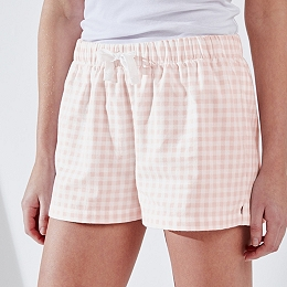 Cotton Gingham Pajama Shorts