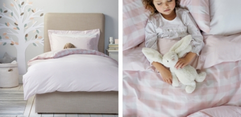 Gingham Bed Linen - Chalk Pink