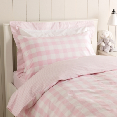 Gingham Pink Cot Bed Fitted Sheet