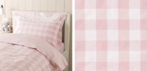 Gingham Bed Linen Collection - Pink