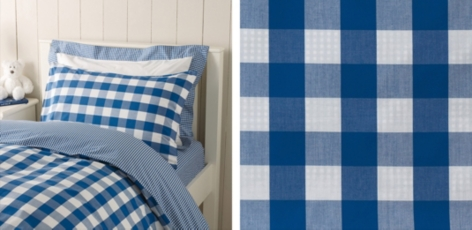Gingham Bed Linen Collection - Royal Blue