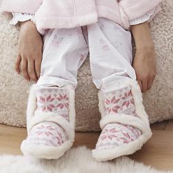 Girls Fairisle Slippers