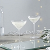 Fine Stem Champagne Coupe - Set Of 2