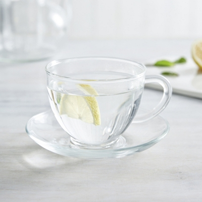 Glass Cup & Saucer