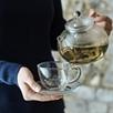 Glass Tea Cup & Saucer