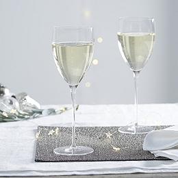 Fine Stem White Wine Glass - Set Of 2