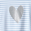 Glitter Heart T-Shirt  (4-10yrs)