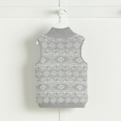 Fairisle Fleece Lined Gilet