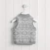 Fairisle Fleece Lined Gilet - Grey