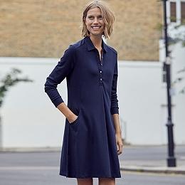 Jersey Pocket Shirt Dress