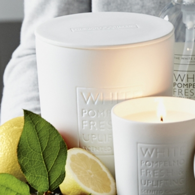 White Pompelmo Large Candle