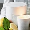White Pompelmo Large Candle