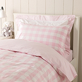 Pink Reversible Gingham Bed Linen