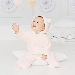 Baby Girls' Fleece Romper